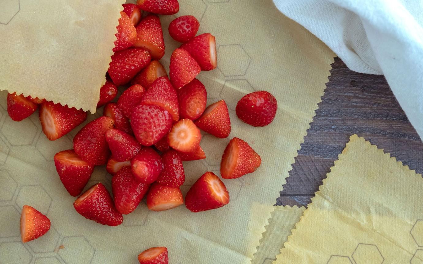 Betterbee BIO Bienenwachstuch Wachstuch Wrap 5er Set für Lebensmittel Natural
